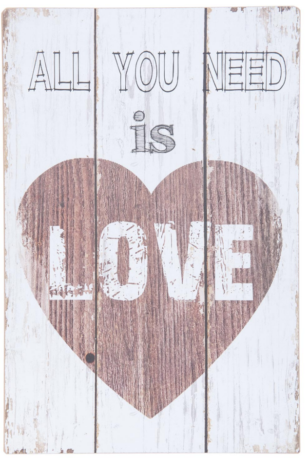 houten tekstbord clayre en eef all you need is love