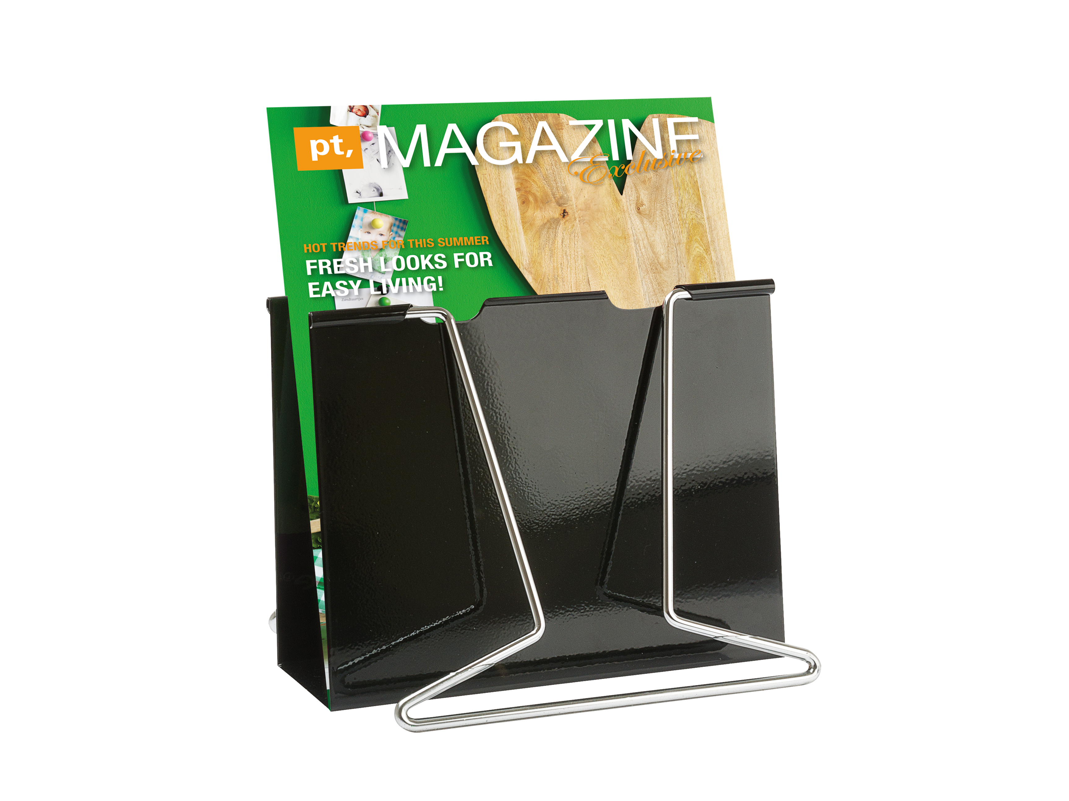 Magazine Rack Giant Clip Steel Black