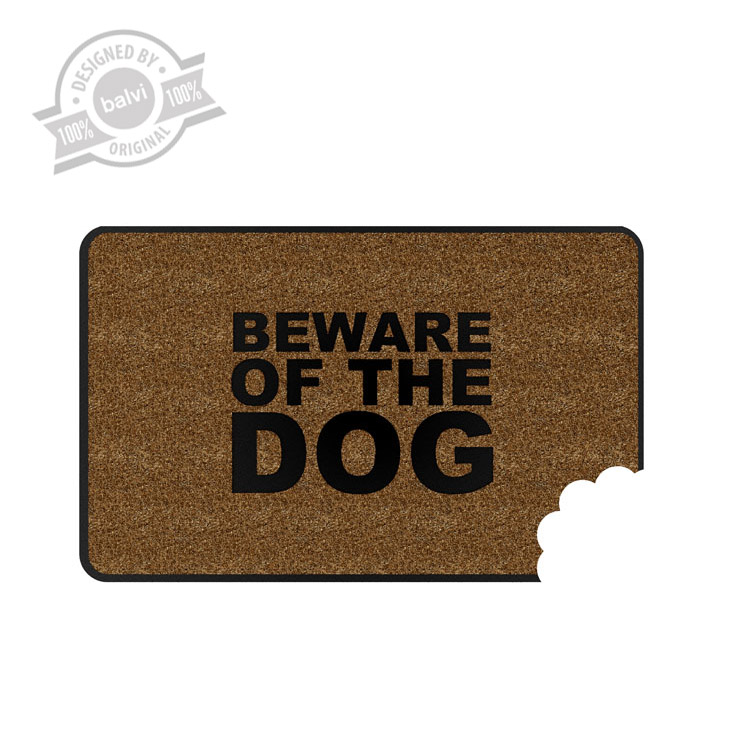 Deurmat beware of the dog balvi