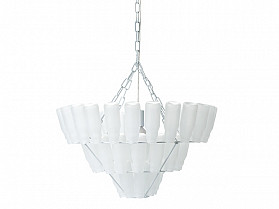 Leitmotiv Hanglamp Bottle Chandelier Large frosted wit